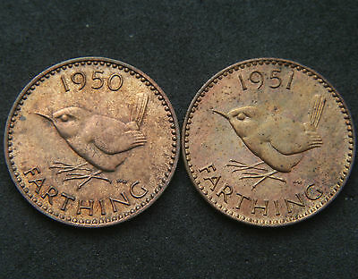 Proof 1950 & 1951 Farthings