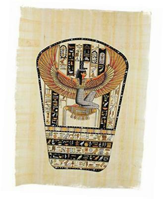 "egyptian papyrus ""isis tablet"" hand painted painting on 100% authentic egyptian"
