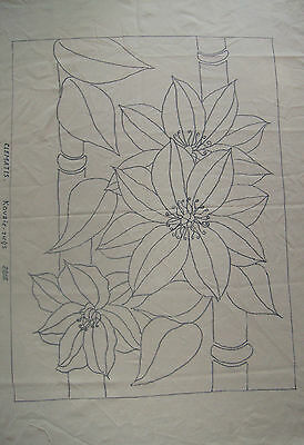 Rug Hooking Pattern on Monks Cloth ~ Clematis
