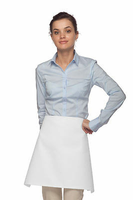 1 Four Way WHITE Back of the House Kitchen Apron ~ Made in USA