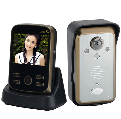Door Wireless Doorbell Video Intercom Motion Detector Waterproof 3.5 In LCD TFT