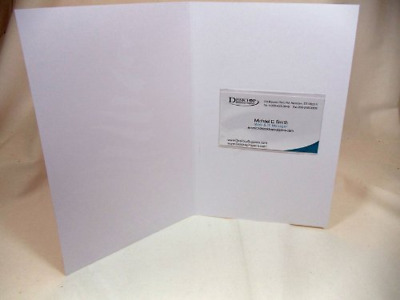 Clear Adhesive Business Card Sleeves - 100 Pieces