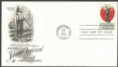 Us Fdc 1966 Johnny Appleseed 5C Stamp Art Craft First Day Of Issue Cover