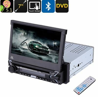 One DIN Universal Car DVD Player 7 GPS WiFI Bluetooth Android Detachable Touch