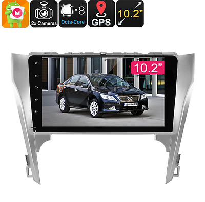 2 DIN Car Media Player Toyota Camry 10.2 In Bluetooth WiFi 3G GPS Android 6 0
