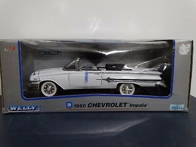 Welly 1960 Chevy Impala Convertible 1:18 Scale Diecast Model White Car