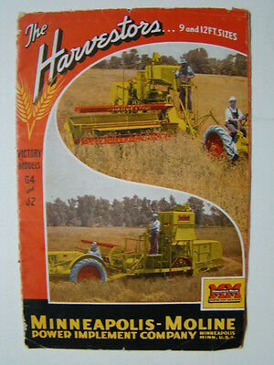 The Harvestors Victory Models Catalog Minneapolis Moline Power Implement Co 1946