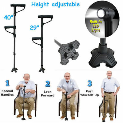New Mobility Walking Stick with light Folding Height Adjustable Free Standing UK