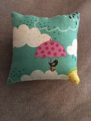 Handmade square mini pillow cat toy with catnip gift pet Cotton Clouds