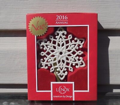 Lenox Snow Fantasies Snowflake Ornament New In Box 2016 Annual Christmas