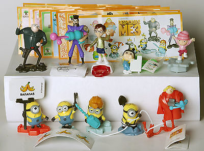 New Despicable Me 3 2017 Kinder Surprise Toy Minions complete set + all papers