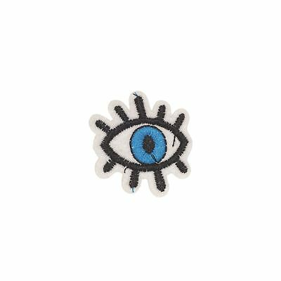 Blue Eye (Iron on) Embroidery Applique Patch Sew Iron Badge