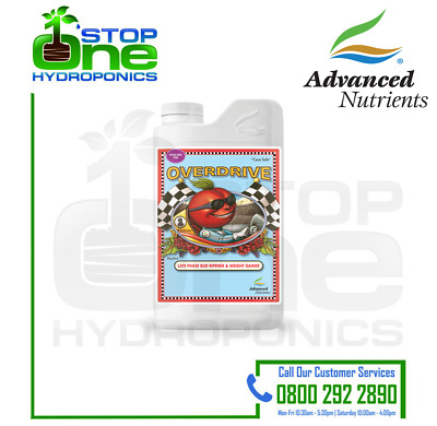 Advanced Nutrients Overdrive late Flowering Booster Hydroponics Weight Gainer