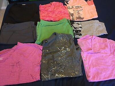 Women's Plus Size 3X (22/24) - Lot Of 9 Items - Shirts, Shorts, Capris