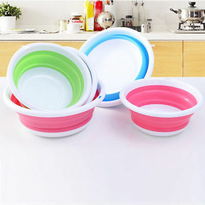 Plastic Foldable Wash Basin Outdoor Traveling Camping Water Storage Container