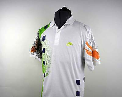 Vintage Agassi Jersey Challenge Court Tennis Polo Shirt 1990's