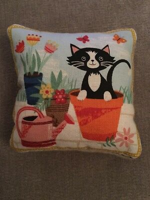Handmade square mini pillow cat toy with catnip gift pet Cotton Cashmere Blend