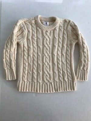 Old Navy Boys Or Girls Cable Knit Sweater Off White Size 5T EUC