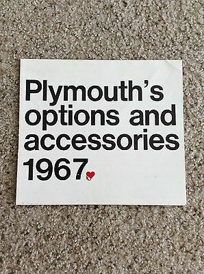 1967 plymouth original dealership showroom accessories sales handout