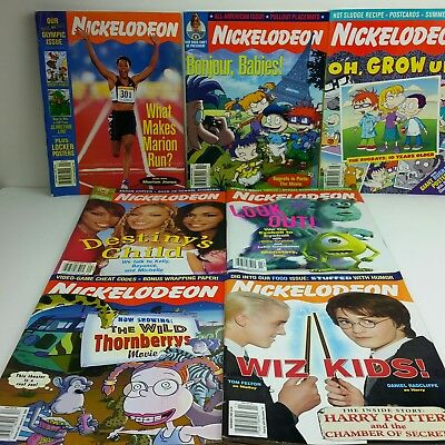 Vintage Nickelodeon Magazines Lot of 7 Beyonce Harry Potter Rugrats 2000-2002