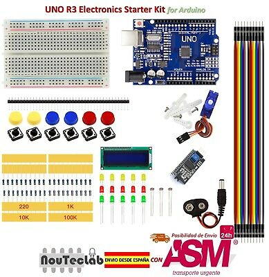 Basic Starter Kit UNO R3 Breadboard LED LCD SG90 Jumper Wire Button for Arduino