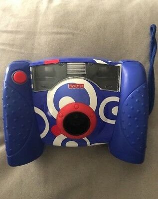 Fisher Price Kids Digital Camera 2006 Blue White Red Kid Tough Tuff CLEAN WORKS
