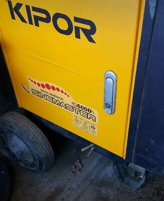 Kipor Genorator 6000 watt with only 4 hrs