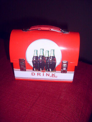 Vintage - Coca-Cola Tin Collectible - Mini Tin Lunch Box - Drink Coca Cola-Coke