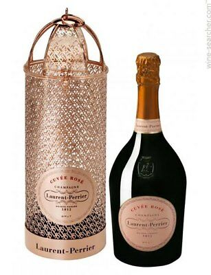 Beautiful Laurent Perrier Cuvee Rose Brass Carry Case – Perfect gift packaging