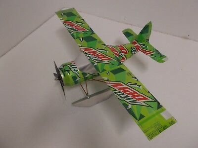 Aluminum soda can handcrafted airplane/MT.DEW (BEAVER)