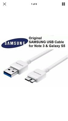 New Original OEM Samsung Galaxy Note3 S5 USB 3.0 Data Sync Cable Charger White