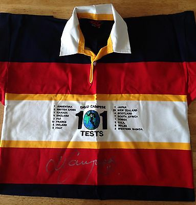 Wallaby Great David Campese signed 101 Tests jersey