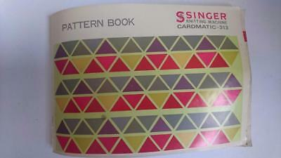 Singer Pattern Book for Knitting Machine Model Cardmatic-313