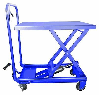 Hu-Lift Equipment TC22P Mobile Scissor Lift Table 500-Pound Capacity 9-1/4-In...