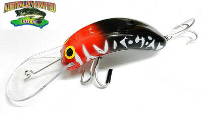 Australian Crafted Lures- cod 90mm invader redhead black col;24  20ft a.c.lures