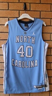 North Carolina Tarheels #40 Ncaa Jordan Dri-Fit Basketball Jersey Rare! Large