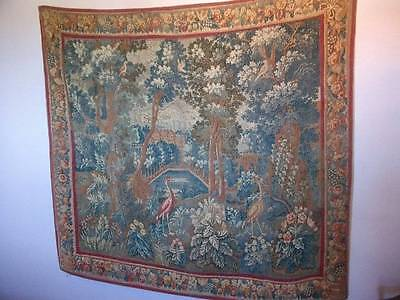 """Superb   Large  Quality Vintage French Chateau Tapestry """"Les Deux Herons """""""