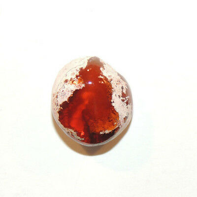 Mexican Fire Opal Cabochon 15x16mm with 9mm dome (12802)