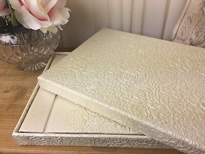 Guest Book Cream Boxed Wedding Engagement Anniversary