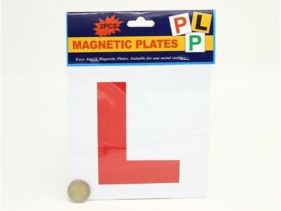 2 PC Magnetic L Plates Learner drivers easy attach