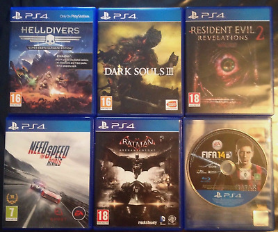 Ps 4 game set of 6 games + 1 Ps3 game free.