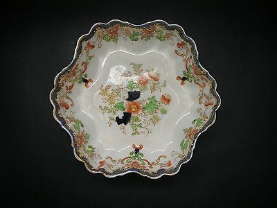 Duchess Antique Imari China Serving Fluted Dish Bowl England c early 1900s