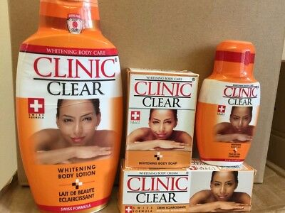 Clinic Clear White Body Care 500ml Lotion + 50gm Tube + 125ml Oil + 225g Soap