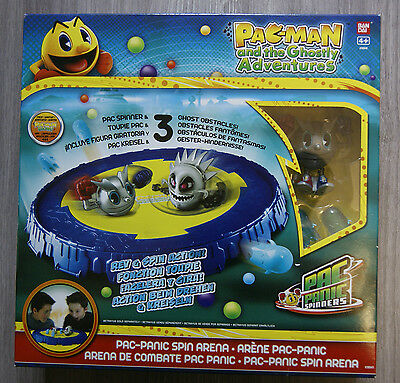 Pac-Man And The Ghostly Adventures Pac-Panic Spin Arena New Bandai Age 4+ Pacman