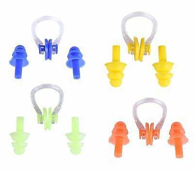 Soft Silicone Swimming Nose Clip & Ear Plug Set in a handy case