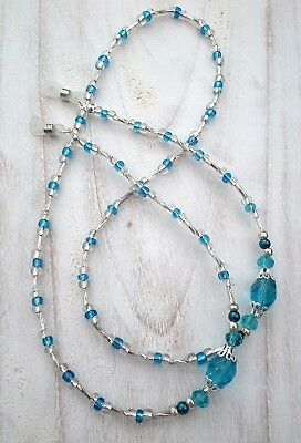 * Something Blue * Glasses Chain  Spectacles Holder  Eyeglass Strap  Beaded Cord