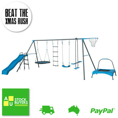 Play Set Swing Set Playsets Playground Equipment Trampoline Kids Toys Outdoor 7