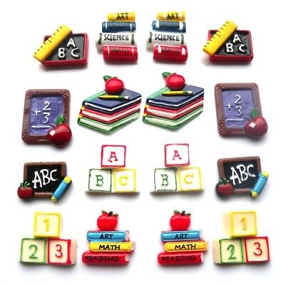 School Education Teacher Flatbacks - You Get 16 - Mixed Education Embellishments
