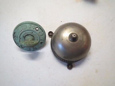 Antique Vintage  Turn Key Plate Cast  Door Bell Ringer Doorbell