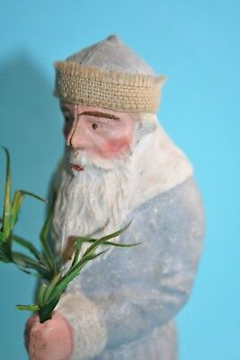 """extremely rare antique 6"""" german Dresden Santa Claus candy container ornament"""